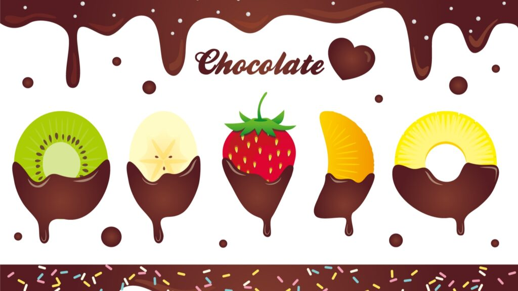 バレンタイン チョコレートフォンデュ 果物